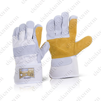 Canadian double palm high quality rigger gloves BEESWIFT FLEX GOLD