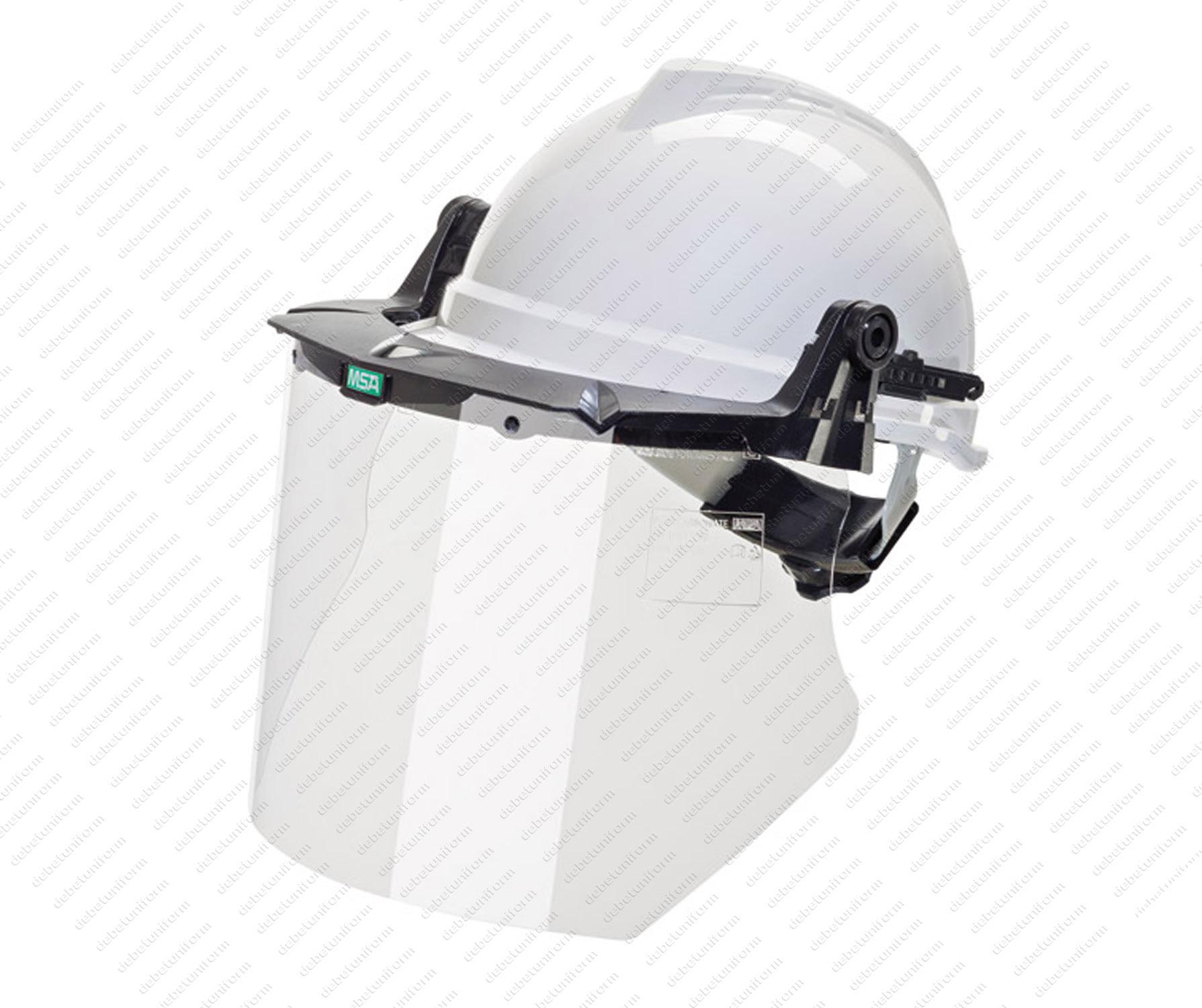 Helmet mounted V-Gard® helmet frame with polycarbonate visor (20 cm ...