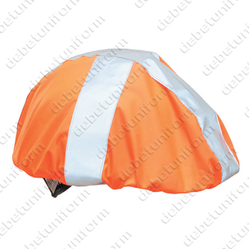Hi Viz helmet cover 602601 with reflective stripes
