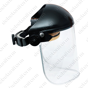 Safety faceshield INVINCIBLE (black browguard and clear visor)