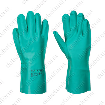 Safety gloves 605207 (green nitrile)