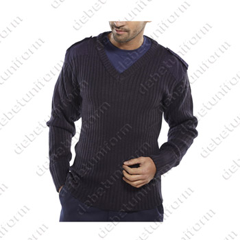 V-Neck security sweater